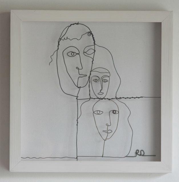 Wire faces by Rachel Ducker