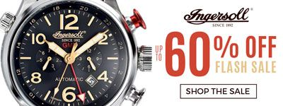 ingersoll watches   up to 60% off