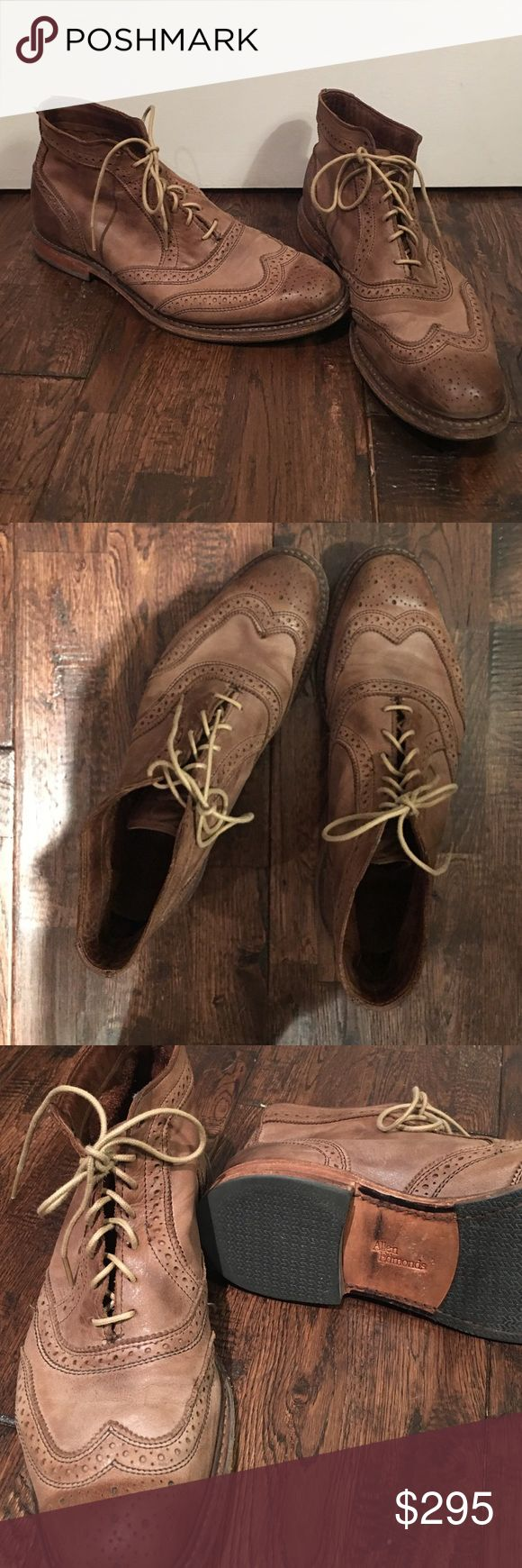 Allen Edmonds brown leather dress boots Allen Edmonds Cronmok Boot. Lace up oxford casual leather boot. Perforated brogue styling. Condition: excellent. Only been worn a few times. Allen Edmonds Shoes Boots