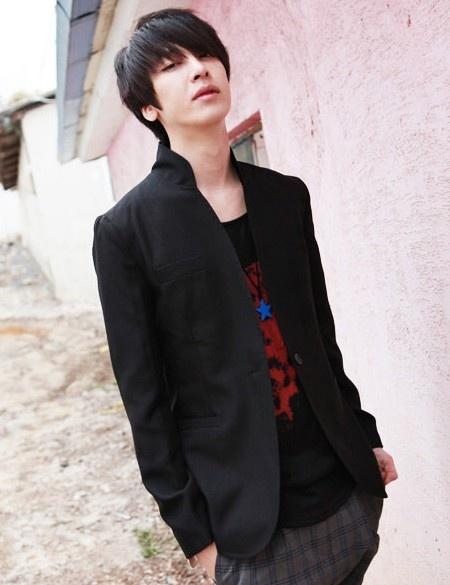 Fashion Single Button Long Sleeve Coat Black i748705