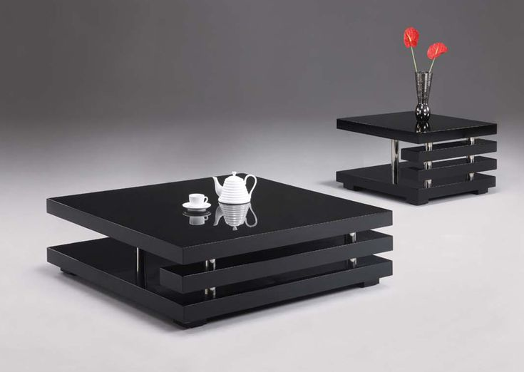 Affordable Modern Furniture For Stylish Home, Tips On Buying: Black Modern  Design Coffee Table