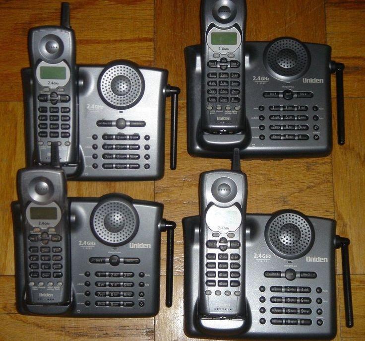 Uniden EXI3226 Cordless Speaker Phone 2 Line Operation Caller ID Set of Four 4  #Uniden