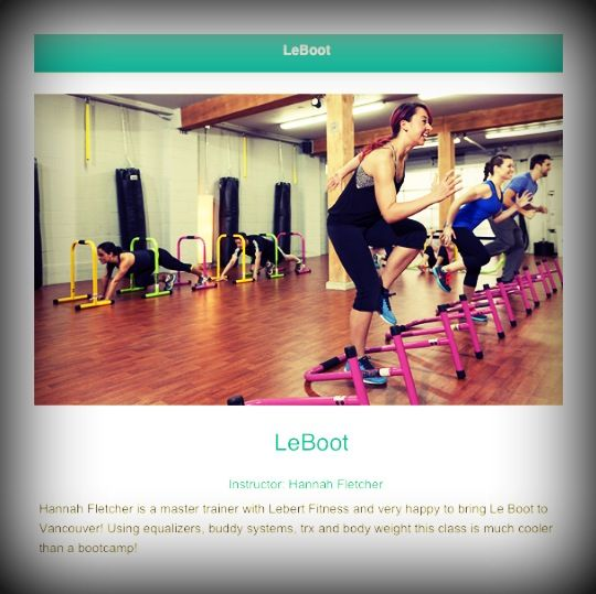 This picture was taken in one of our LeBoot Classes, it's amazing how much fun you can get by trying something new!