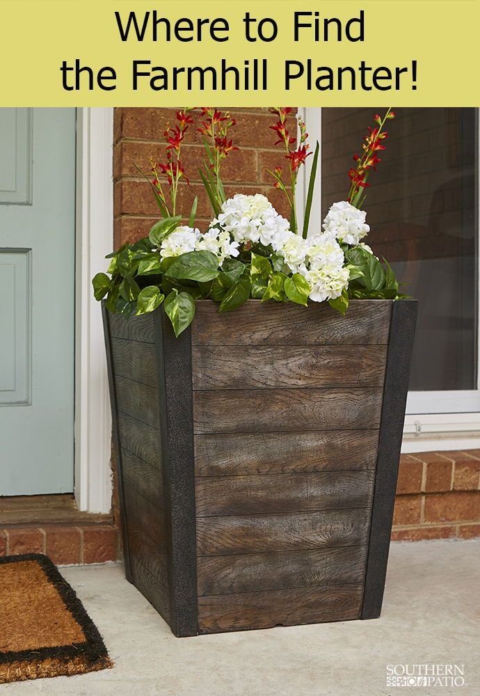 tall planter southern patio
