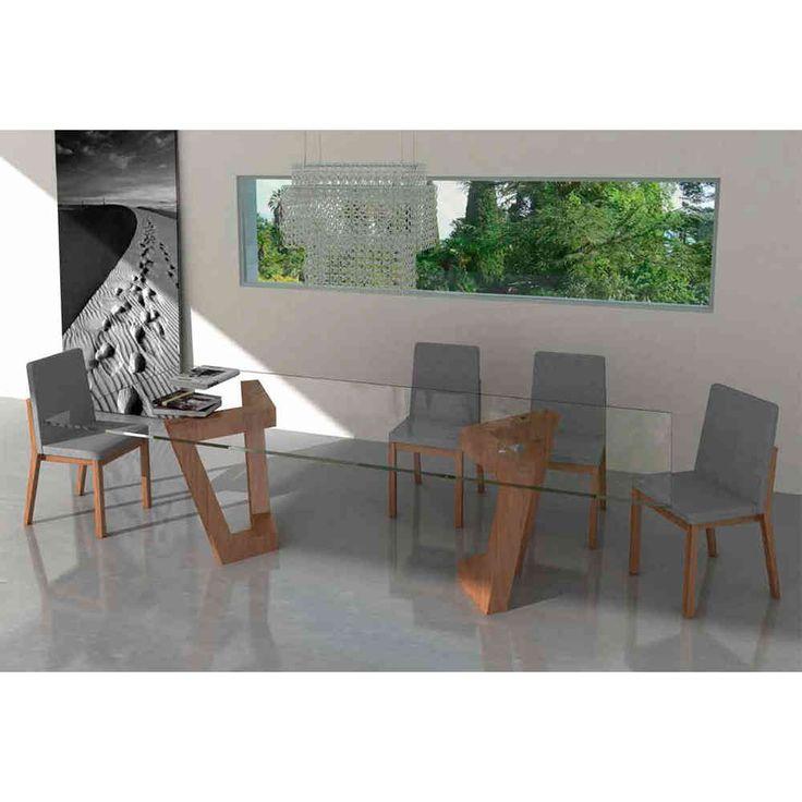 Mesa de comedor moderna olimpia glass muebles decorar - Decoracion mesa comedor ...