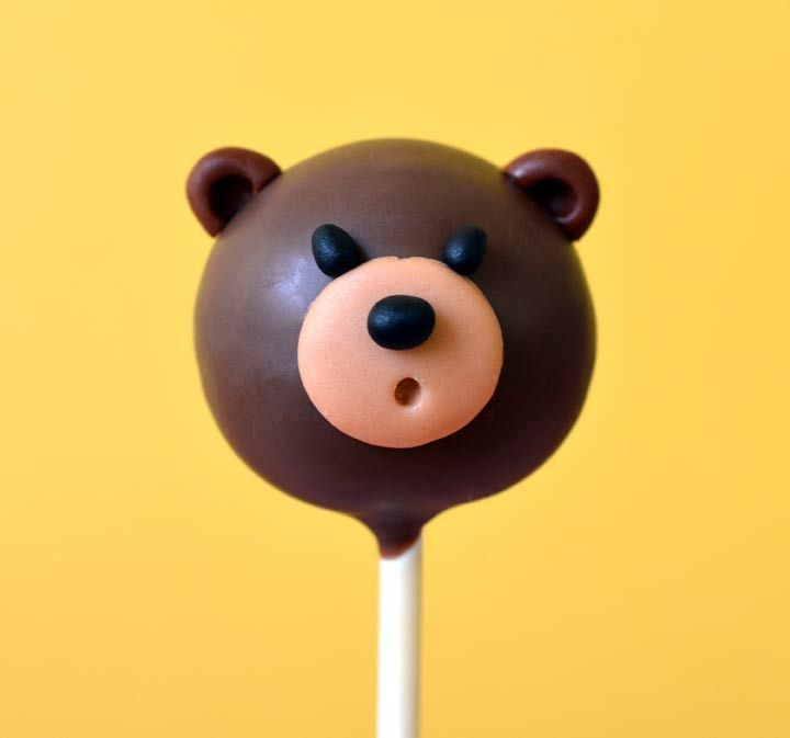 Cute teddy bear cake pop tutorial