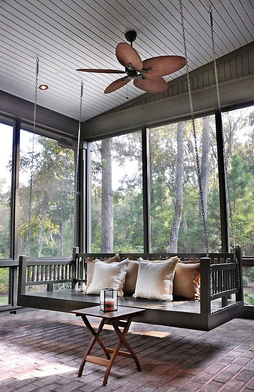 Screened Porch With Swing Content In A Cottage Structures Architectural Details 2018 Pinterest Home And Patio