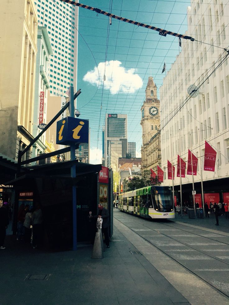 Bourke Street, Melbourne's main shopping street.