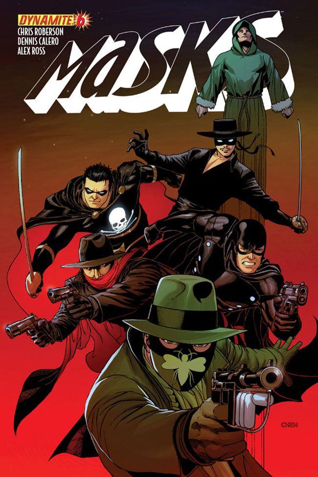 Masks - Green Hornet, Black Bat, Zorro, Green Lama, Black Terror and the Shadow