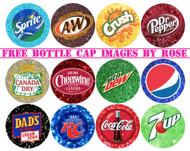 Looks like someone was thirsty when requesting a special sheet! Famous soda brands!