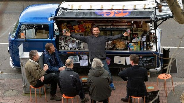 Michael Ibrahim runs the mobile coffee van Soul Kitchen, which has become an institution on St Kilda Road, opposite the Arts Centre.