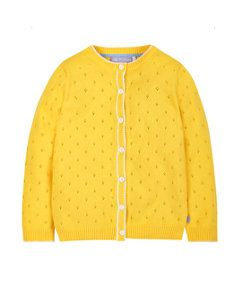 View details of Little Bird by Jools Yellow Pointelle Cardigan