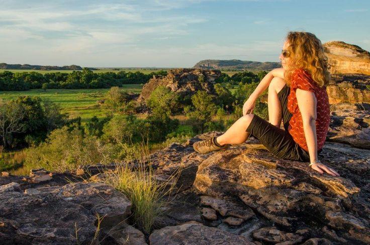 Land Environments Kakadu ( Daisy Barham looking out over Kakadu NP by Glenn Walker)