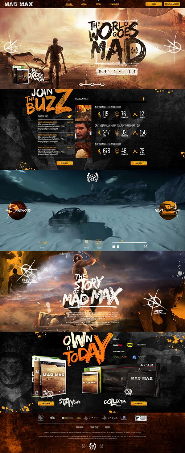 Mad Max Website