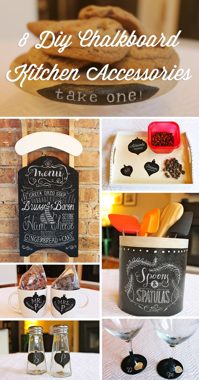 This year, give your kitchen accessories an updated look with 8 awesome ideas for chalkboard paint, inspired by the ornament designs in the #Ziploc #HolidayCollection.