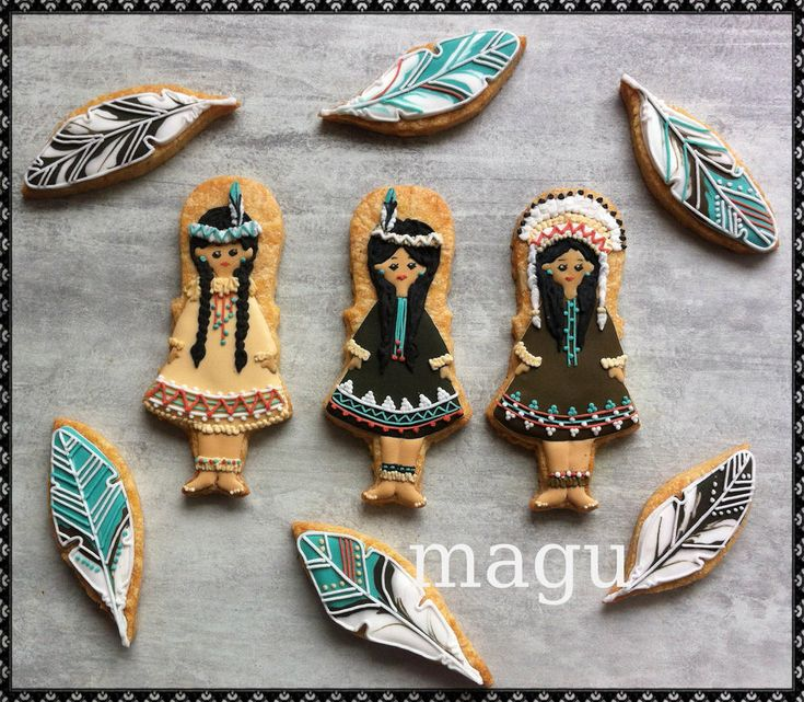 Native American Decorated Cakes