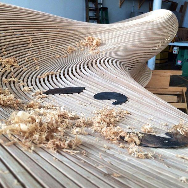 Matthias Pliessnig Shaving Down A Sculptural Bench