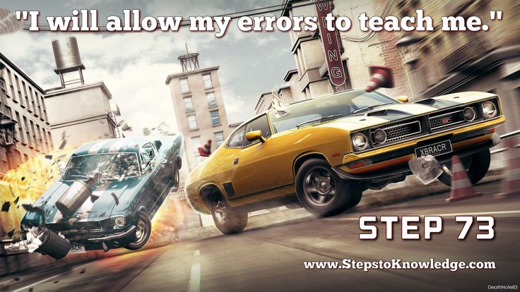 ALLOWING YOUR ERRORS TO INSTRUCT YOU will give them value. They would have no value without this and would be a mark against you in your own estimation. Using errors for instruction, then, is taking advantage of your own limitations to have them point the way to greatness. God wishes for you to learn from your errors so that you may learn of the greatness of God. This is done not to belittle you but to raise you up.   Read more about the steps to knowledge....  Step 73…