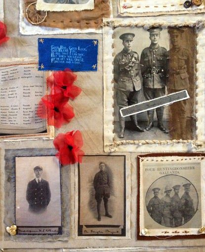 WW1 textile installation at The Norris Museum. Community artist Ricki Outis…