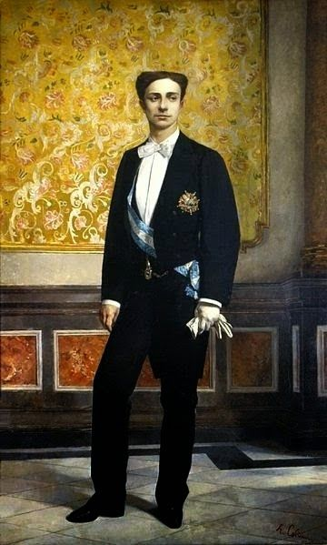 H.M. King Alfonso XII of Spain (1857-1885) - Alfonso XII was King of Spain, reigning from 1874 to 1885, after a coup d'état restored the monarchy and ended the ephemeral First Spanish Republic.