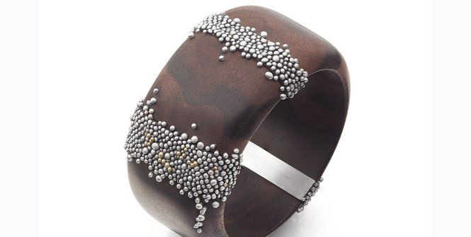 Ebony bangle by Christina Hirst was worn by Janet Archer during her first public appearance since she started in her new role as head of Creative Scotland.
