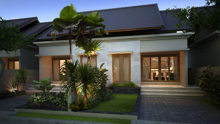 tampak depan rumah minimalis modern type 36
