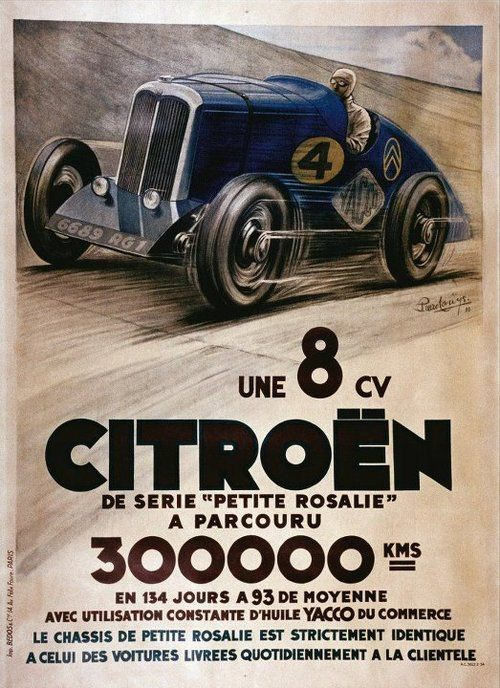 car vintage poster affiches auto vintage pinterest affiches r tro affiche et voitures. Black Bedroom Furniture Sets. Home Design Ideas