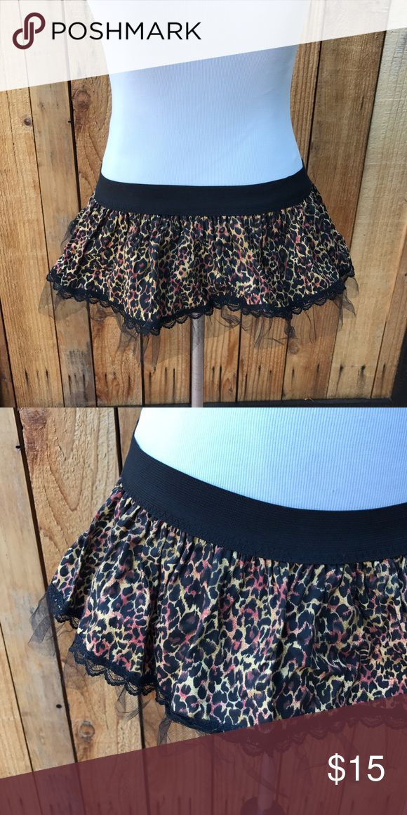 Mini Cheetah Skirt🎉30% OFF ANY BUNDLE Halloween cheetah skirt. Lace on the end. Wore once no flaws perfect condition. Super mini and short. Best fit an xxs/xs   #halloween #skirt #miniskirt Skirts Mini