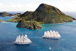 Best Small Ships cruises: Royal Clipper and Star Clipper in the Caribbean