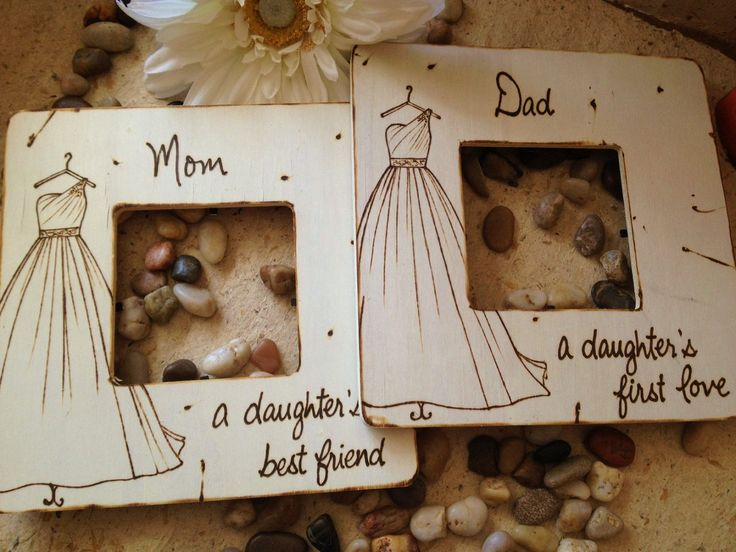 set of 2 wedding gifts for parents of the bride mom and dad with your wedding