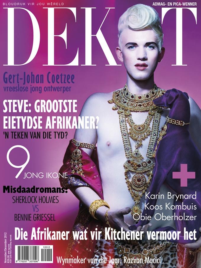 DEKAT November/December issue 2012, with Gert Johan Coetzee. Afrikaans edition.