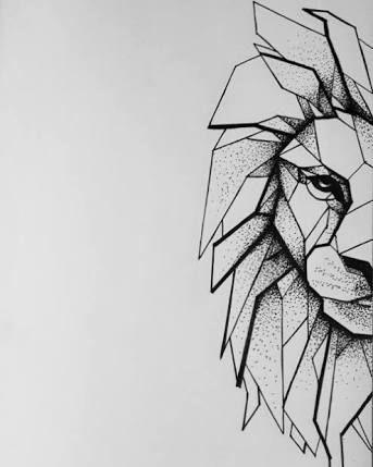 Geometric Tattoo – Resultado de imagem para geometric lion drawing