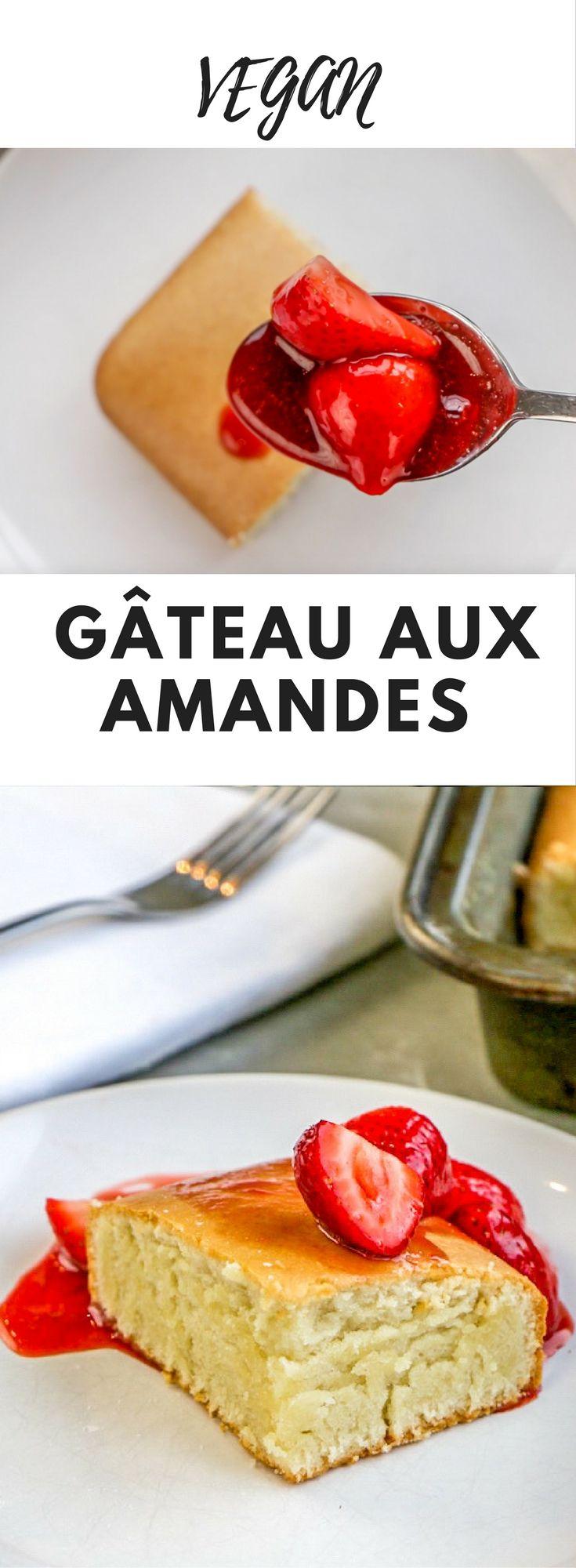 Gâteau aux Amandes - Vous connaissez la poudre d'amandes ? Communément appelées amandes moulues. J'en fais un merveilleux gâteau si simple à réaliser. Pas le temps de cuisiner ? Essayez cette recette de gâteau vegan aux amandes !