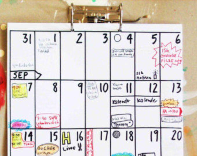 A3 Kalender Aug 2017 - Jan 2019