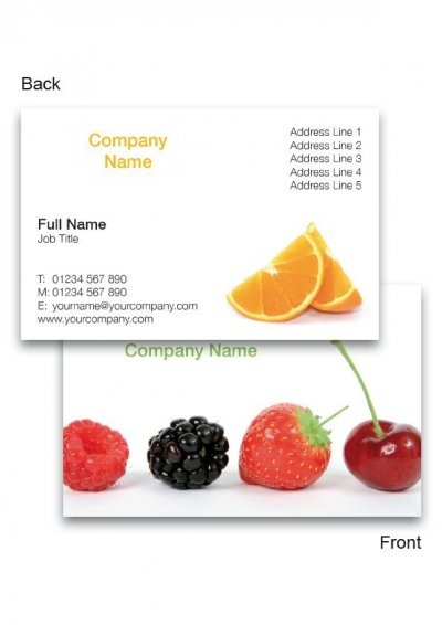 Fruit Business Cards... More Free Business Card Templates from www.PrintRepublic.co.uk