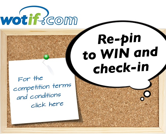 Terms and conditions for Wotif.com's Re-pin to #WIN and check-in competition #Wotahotel