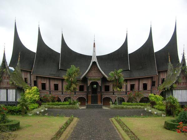 Gadang house is a minangkabau, Indonesia