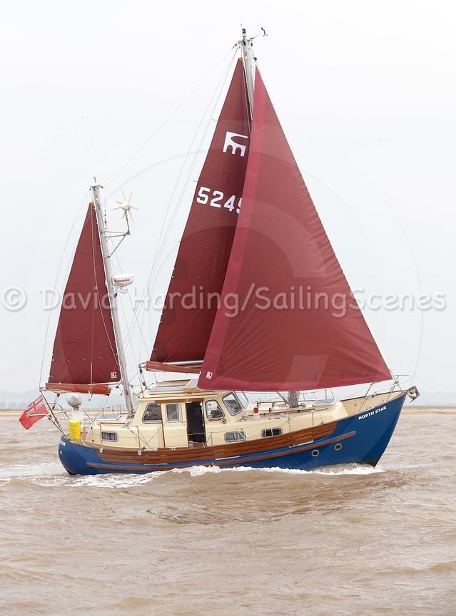 Fisher Northeaster 30 in Hamford Water near Walton-on-the-Naze