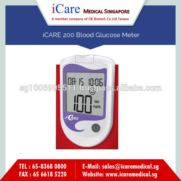 Light Weight iCARE 200 Blood Glucose Monitoring Meter for Evaluating Blood Glucose