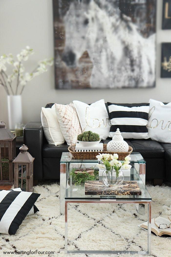 Casual Glam family room decorating ideas #HomeDecorIdeas ...