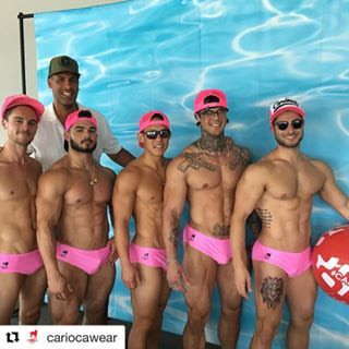 Thank you @cariocawear for helping us throw an epic pool party! #soaked #poolparty @andazweho #impulsela #impulseunited #gettested #sexymodels