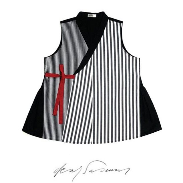 Very nice! Korean Hanbok vest - different stripe patterns