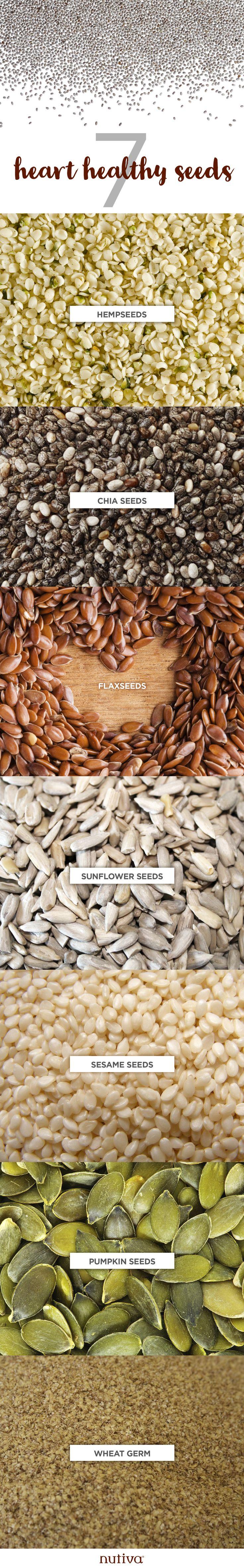 7 Heart Healthy Seeds kitchen.nutiva.com