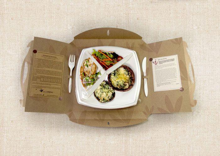 Espacio y ajuste para plato y cubiertos, además de notas gráficas en los lados