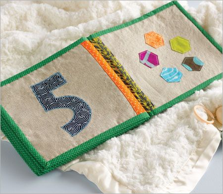 Cloth baby book - Numbers
