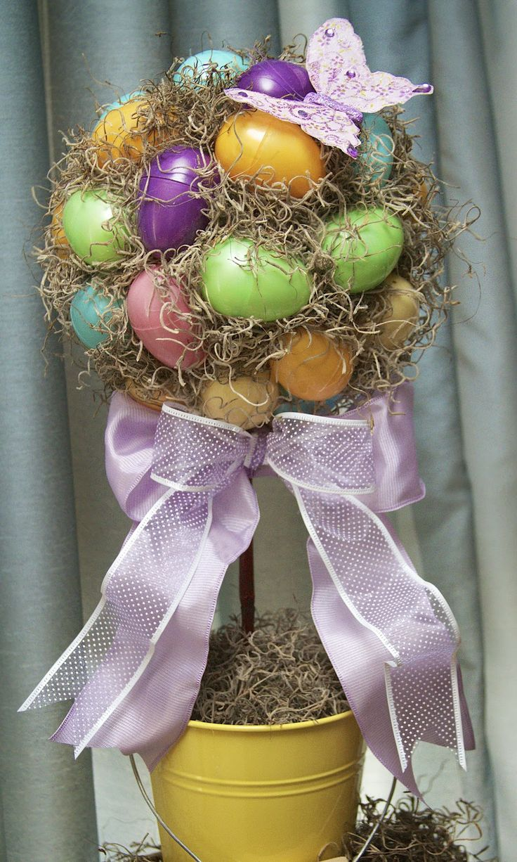 Love, Laughter & Decor: Easy, Easter Egg Topiary | Tutorial  Pretty and bright.  Nice idea!: