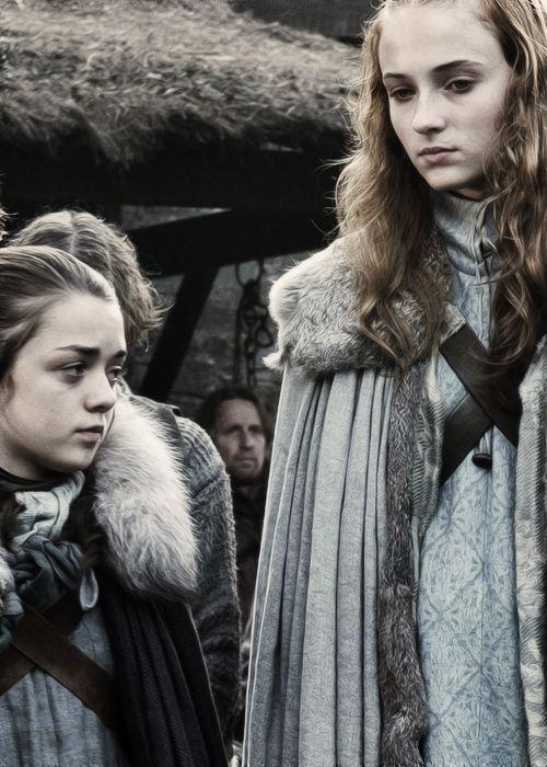 Game Of Thrones - Arya Stark and Sansa Stark.
