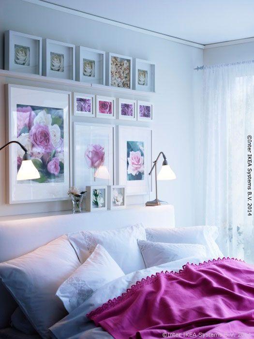 Așează o poliță deasupra patului și vei avea mai mult loc pentru lămpile ce se aprind seara. http://www.IKEA.com/ro/ro/catalog/products/50152595/