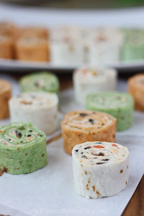 Mexican pinwheels - perfect appetizer any time of year! #appetizer #mexican via isthisREALLYmylife.com