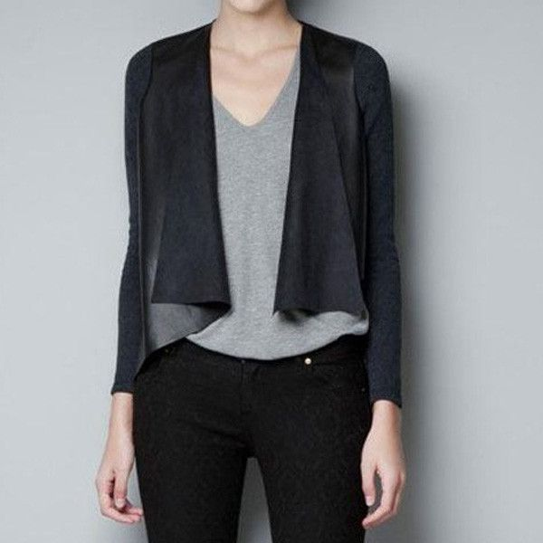 Leather look cardigan. $32.95 from oohbabybaby.com.au